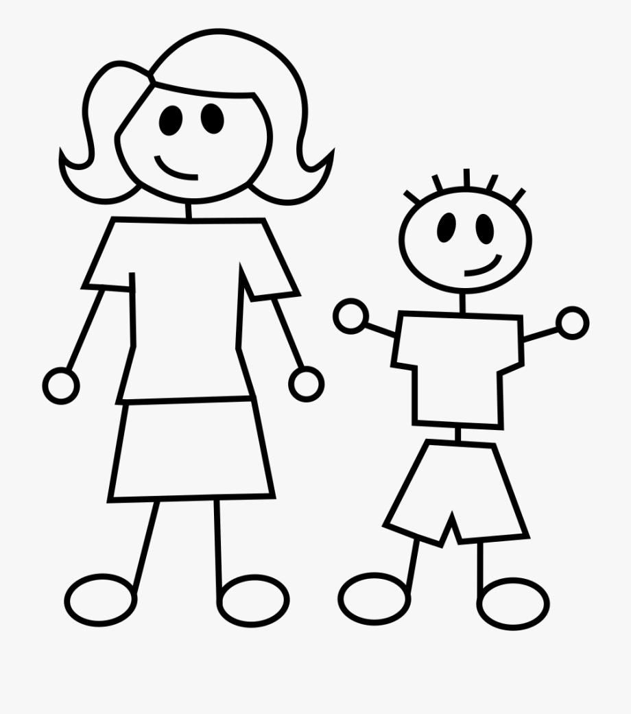 Children figure clipart png transparent stock Clipart Children Stick Figure - Mother And Son Stick Figures #63422 ... png transparent stock