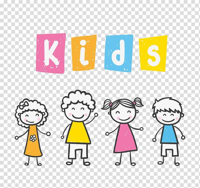 Children figure clipart png transparent Children standing side-by-side , Child, Color stick figure kids ... png transparent