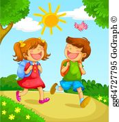 Children go to school clipart royalty free stock Children School Clip Art - Royalty Free - GoGraph royalty free stock