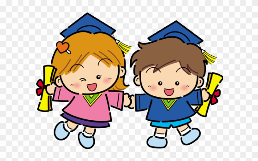 Children graduation clipart clipart freeuse library Graduation Clipart Daycare - Graduation Kids Transparent - Png ... clipart freeuse library