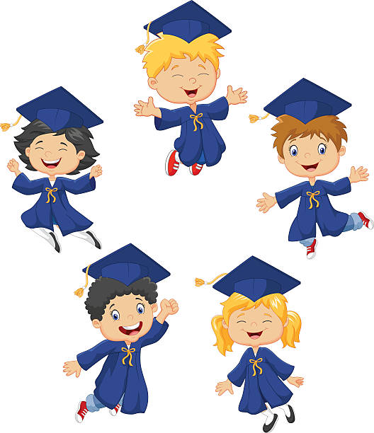 Children graduation clipart image freeuse Kids Graduation Clipart Kindergarten Clever Various 9 | www ... image freeuse