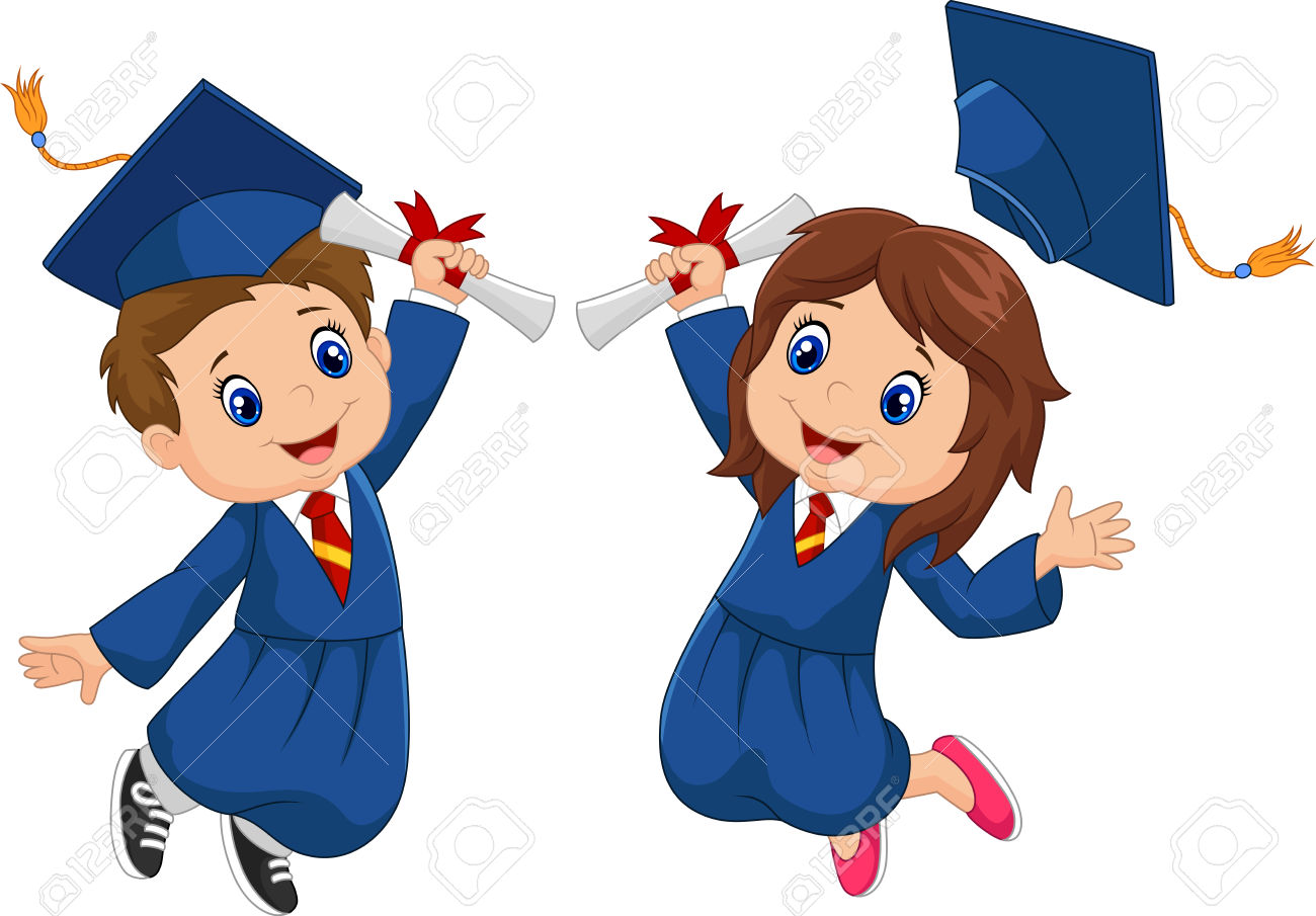 Children graduation clipart vector library stock graduation-clipart-kid-vector-4 - St. Patrick Catholic Academy vector library stock