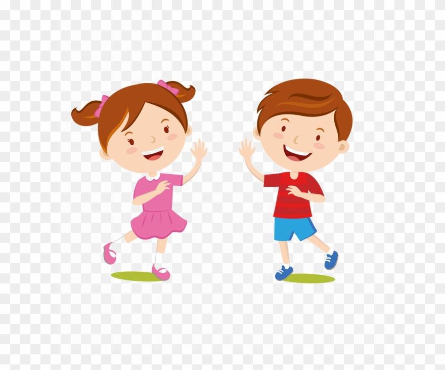 Children greet clipart