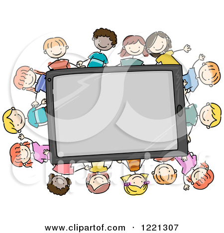 Children in a computer clipart clipart free download Clipart of Doodle Children Around a Tablet Computer - Royalty Free ... clipart free download