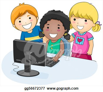 Children in a computer clipart clipart download Clipart kids at computer - ClipartFest clipart download