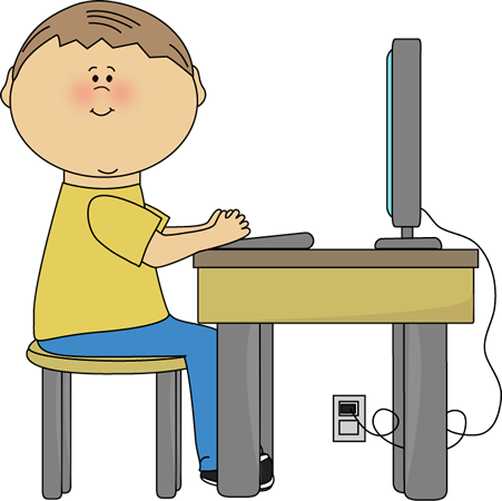 Children in a computer clipart vector freeuse library Children in a computer clipart - ClipartFest vector freeuse library