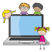 Children in a computer clipart svg freeuse stock Computer Clip Art For Kids | Clipart Panda - Free Clipart Images svg freeuse stock