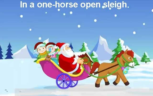 Children in a one horse open sleigh clipart picture free stock Song: Jingle Bells - English Through Drama picture free stock