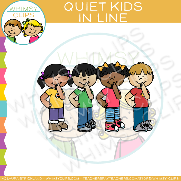 Children in line clipart png picture royalty free library Quiet Kids In Line Clip Art picture royalty free library