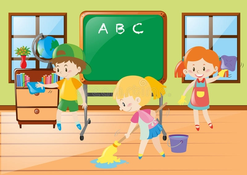 Tidy classroom clipart image download Kids Cleaning Classroom Clipart | Writings and Essays Corner image download