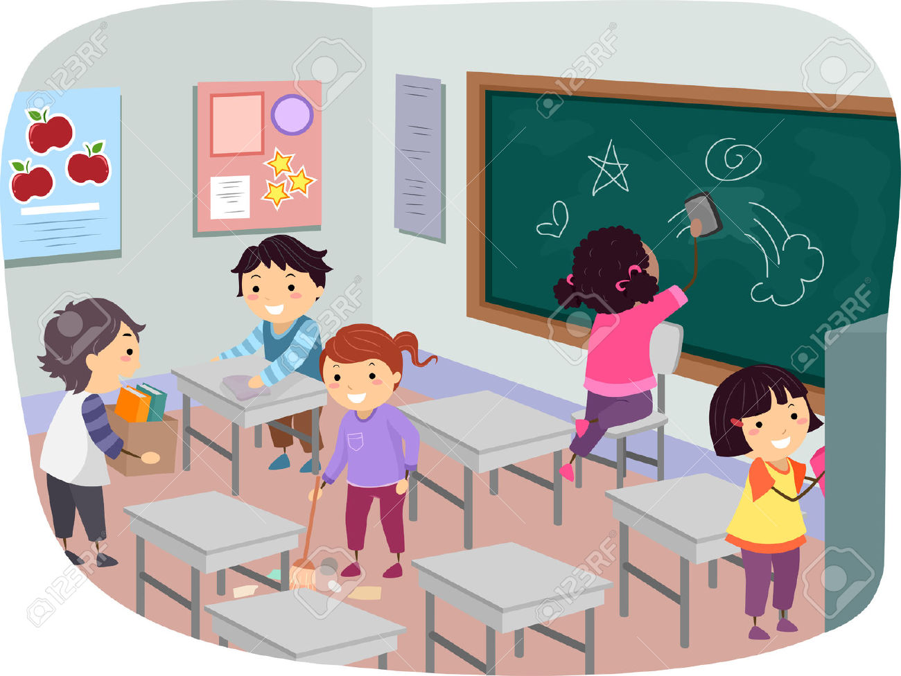 Children in the classroom clipart picture royalty free stock Children cleaning classroom clipart 3 » Clipart Station picture royalty free stock