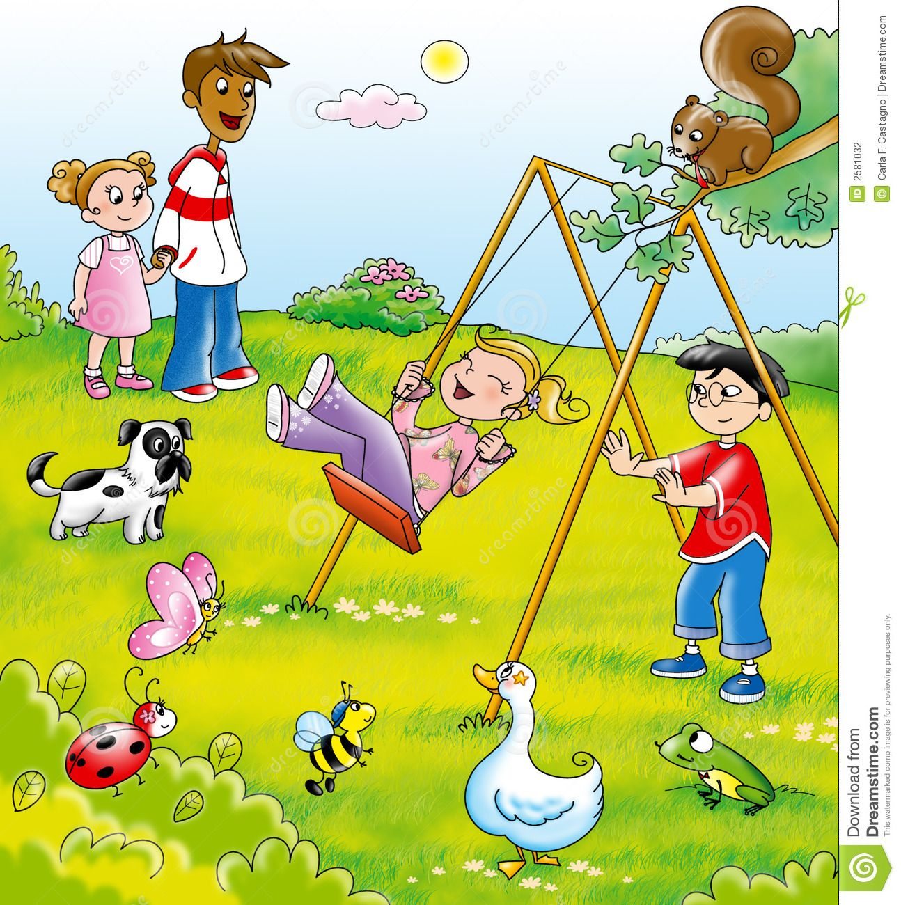 Kids playing in the park clipart png Kids in a park | Girl Scouts Ideas | Cartoon kids, Kids playing ... png