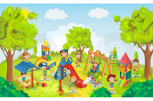 Kids playing in the park clipart clip art library Children park clipart 1 » Clipart Station clip art library