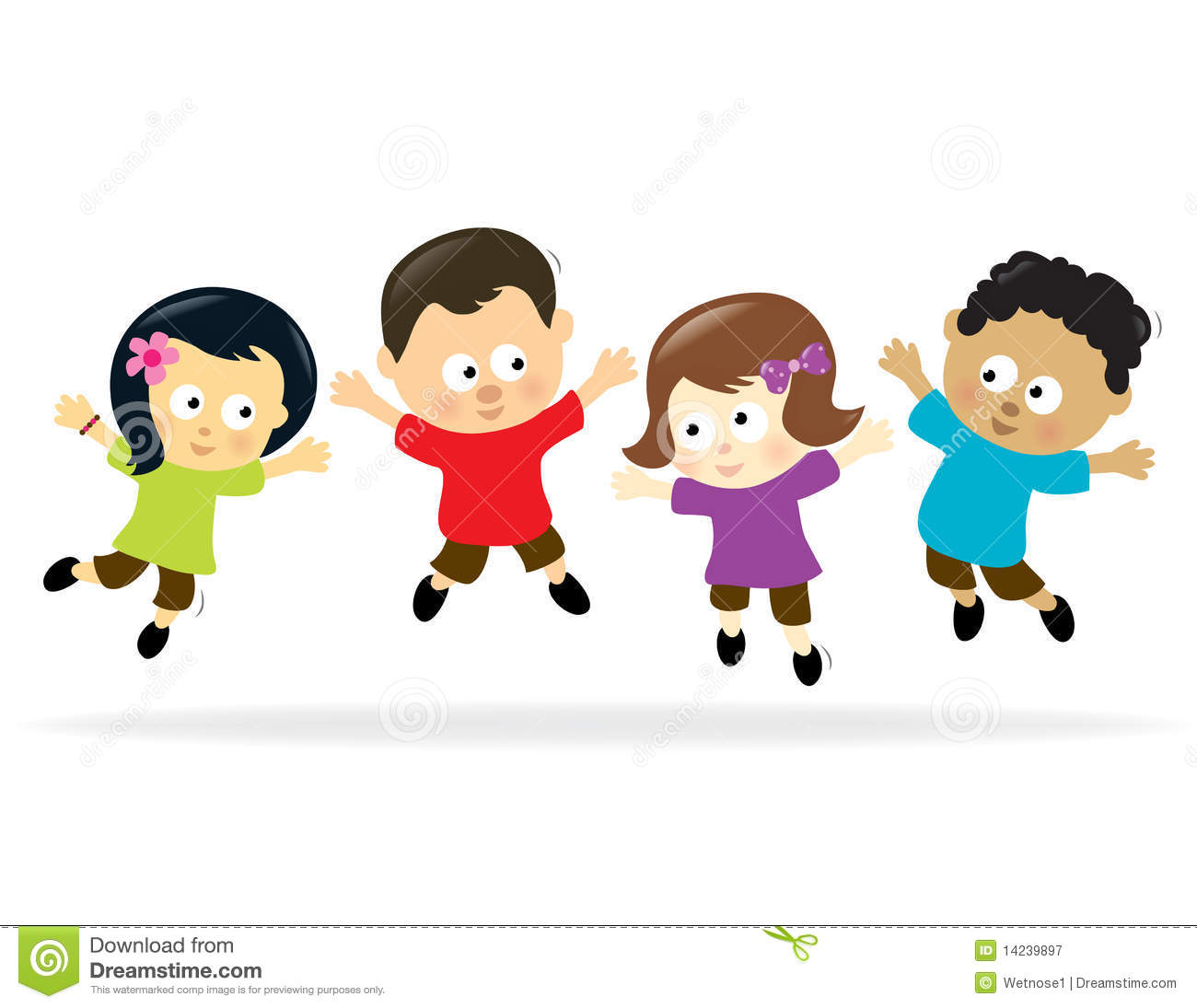 Kids jumping clipart vector black and white stock Kids jumping clipart 3 » Clipart Station vector black and white stock