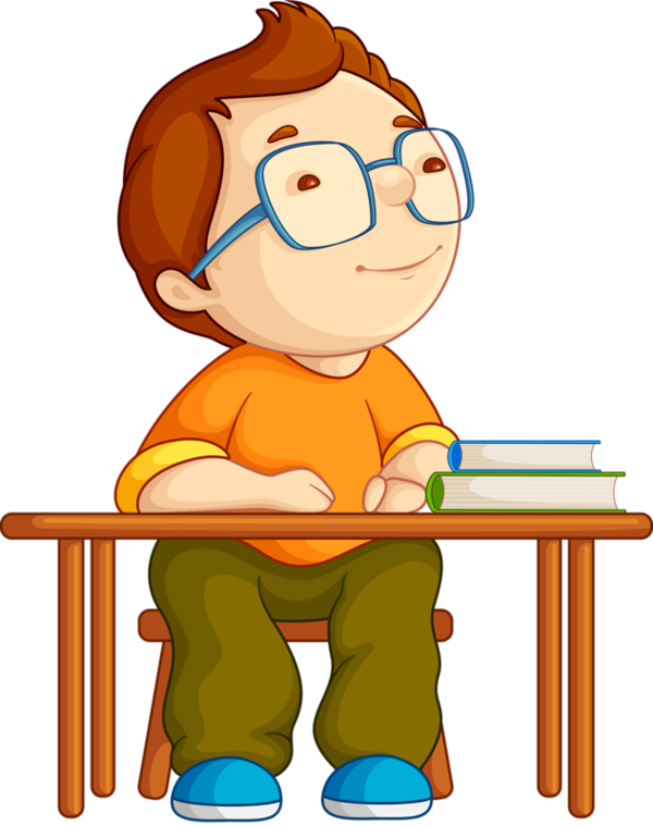 English book clipart. Personnages illustration individu personne