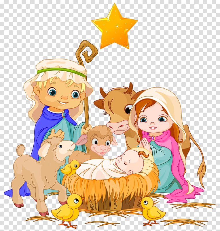 Children manger scene clipart clipart black and white stock Holy Family Nativity scene Nativity of Jesus , The elderly and ... clipart black and white stock
