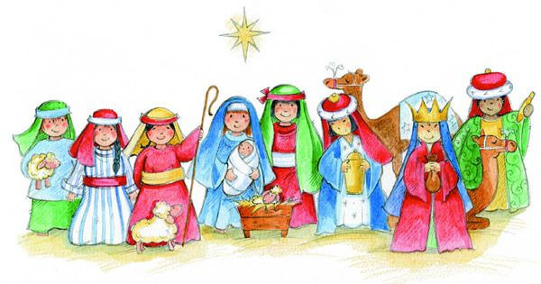 Children manger scene clipart png Lessons & Carols (3rd Sunday of Advent) | Advent - Narative ... png