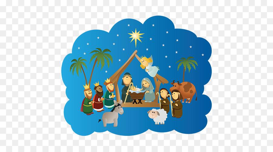 Children manger scene clipart graphic free Christmas Banner graphic free