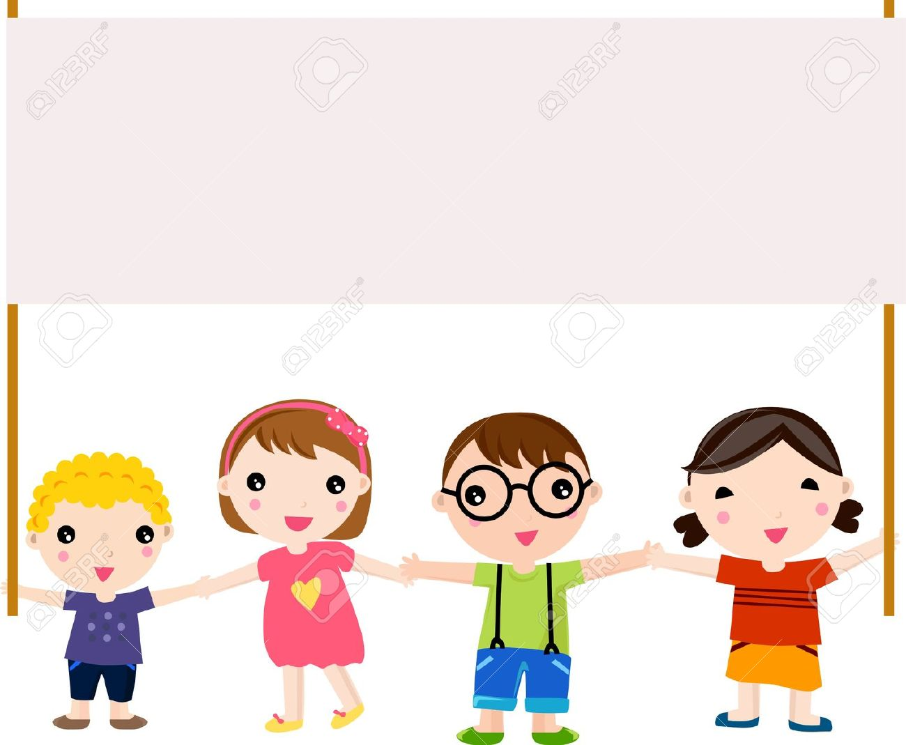 Children marching clipart image library download Children Cartoon Clipart 23 - 1300 X 1069 - Making-The-Web.com image library download