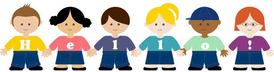 Children of all typs holding hands clipart clip freeuse Kids holding hands - Buy this stock illustration and explore similar ... clip freeuse