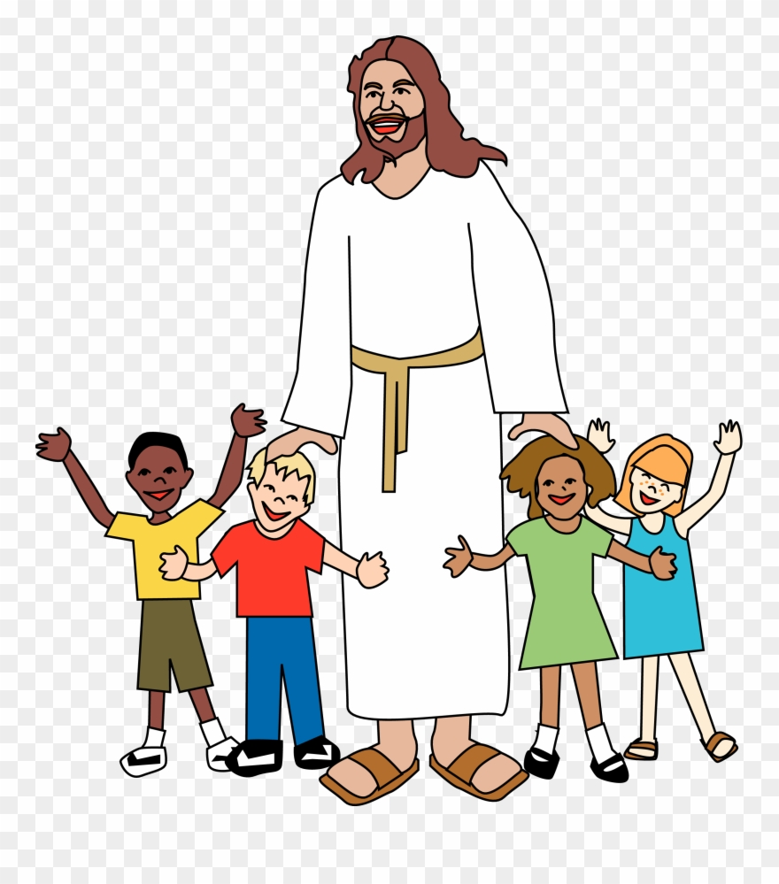 Children of god clipart graphic transparent download Sunday School Jesus Clip Art Merry Christmas Amp Happy - God With ... graphic transparent download