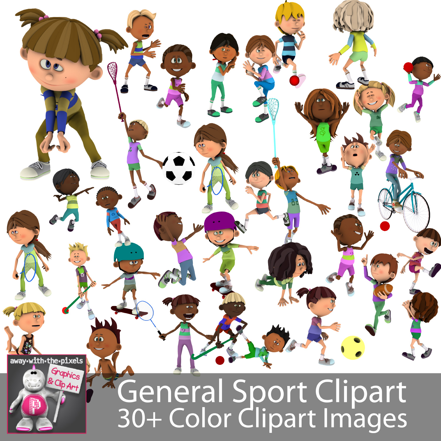 General Sport Kids Sports Clipart For Teachers - Fitness & PE Clipart picture free