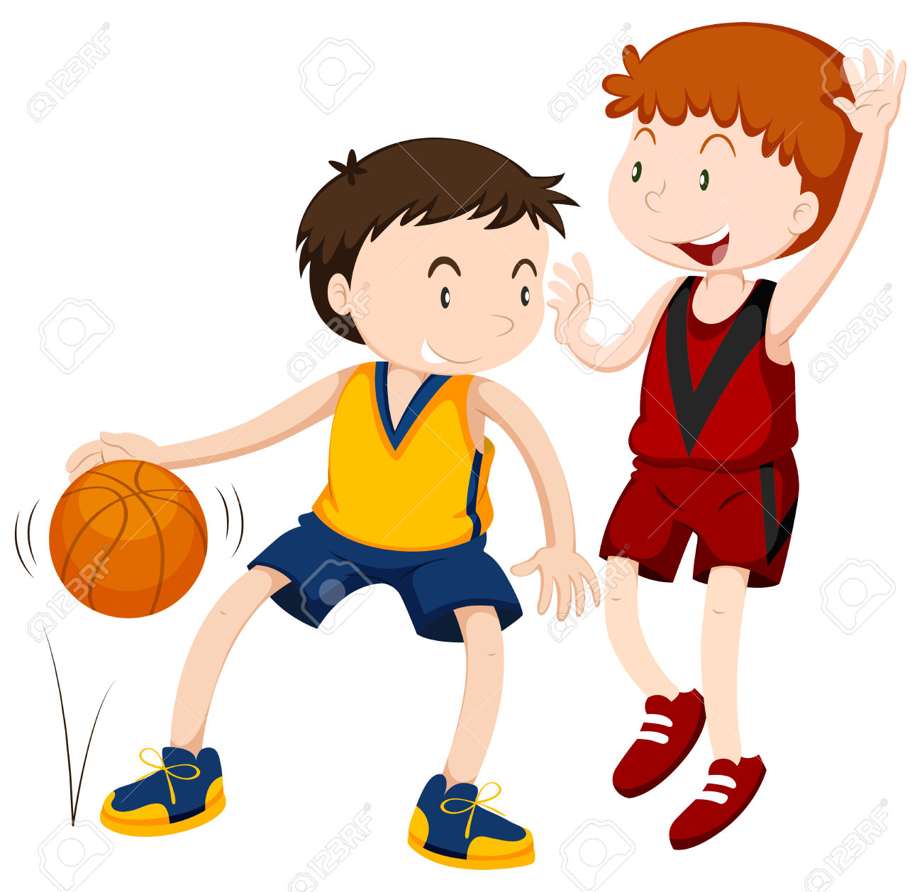 Children playing ball clipart banner free stock Kids Playing Basketball Clipart | Free download best Kids Playing ... banner free stock