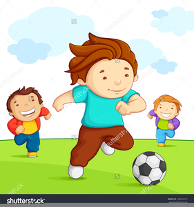 Children playing ball clipart picture transparent library Clipart Pictures Children Playing Soccer | Free Images at Clker.com ... picture transparent library