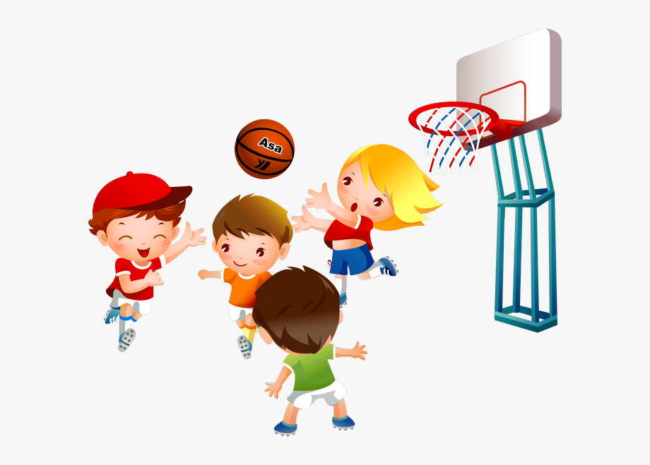 Children playing ball clipart image library library Pe Clipart Childrens - Kids Playing Basketball Clipart #609254 ... image library library