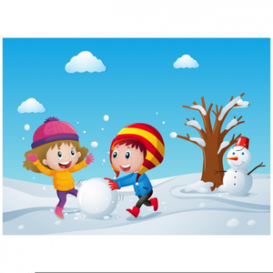 Free Clipart Children Playing Snow | Free Images at Clker.com ... black and white download