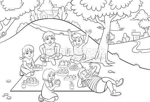 Children playing in the park clipart black and white vector download Children Playing In The Park Clipart Black And White   Letters ... vector download