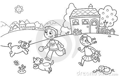 Children playing in the park clipart black and white clipart transparent download Children Play Park Clipart Black And White in Children Playing In ... clipart transparent download