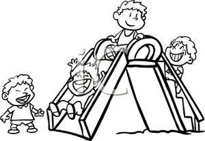 Children playing in the park clipart black and white clip black and white download Children Playing Clipart Black And White   Free download best ... clip black and white download