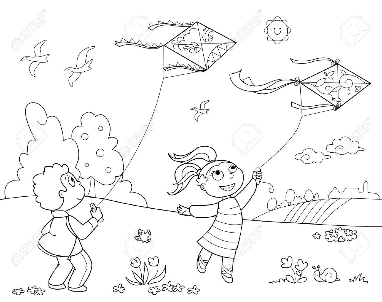 Children playing in the park clipart black and white banner black and white library Children playing in the park clipart black and white 14 » Clipart ... banner black and white library
