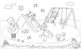 Park black and white clipart
