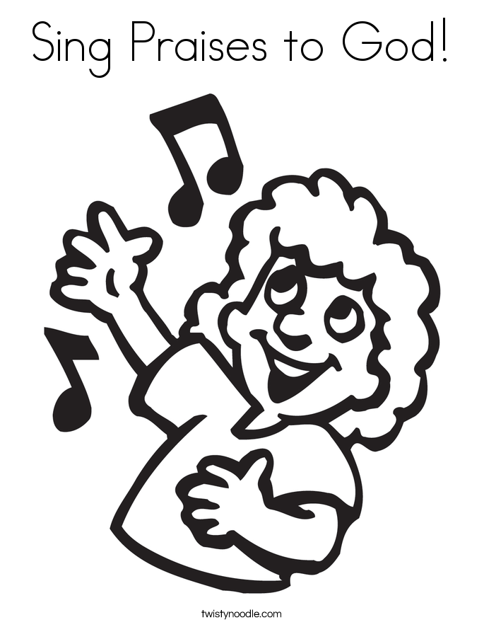 Children praising the lord clipart coloring page clip royalty free library Praising God Cliparts (107+ images in Collection) Page 1 clip royalty free library
