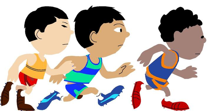 Running a race clipart clipart freeuse stock Kid Running Clipart | Free download best Kid Running Clipart on ... clipart freeuse stock
