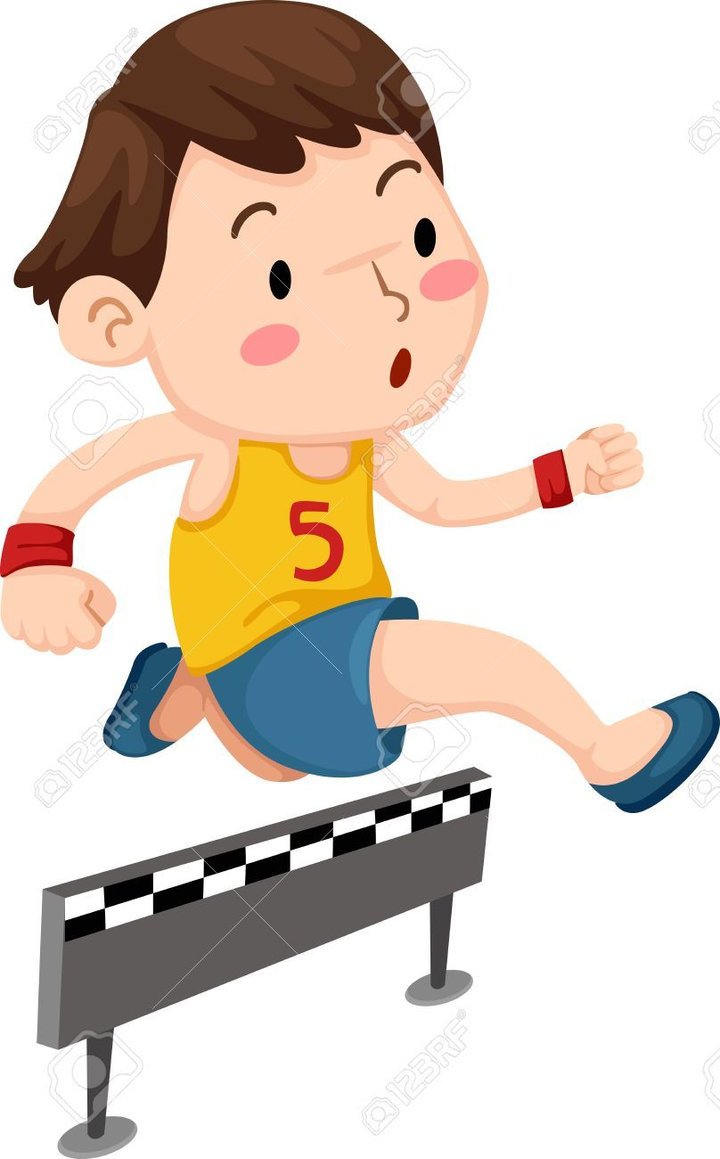 Children racing clipart vector free library Image result for children jumping hurdles, clipart | RUNNING THE ... vector free library
