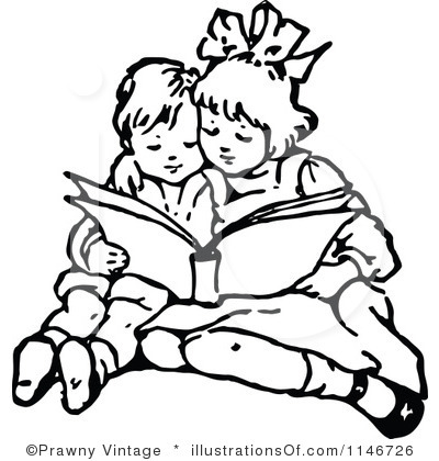 Free clipart black and white little girl reading book. Bible download best