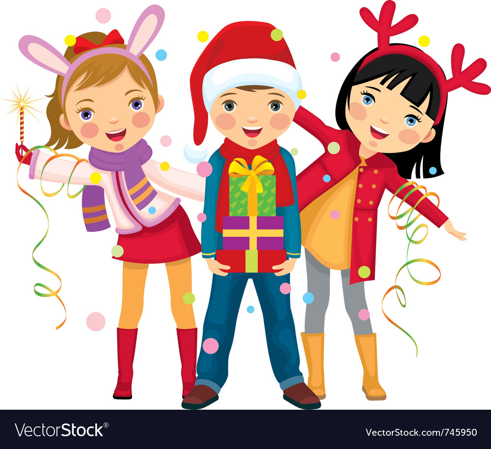 Children s christmas clipart free freeuse library Childrens christmas party a surprise freeuse library