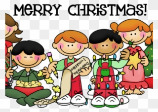 Children s christmas clipart free image black and white download Free PNG Children At Christmas Clip Art Download - PinClipart image black and white download