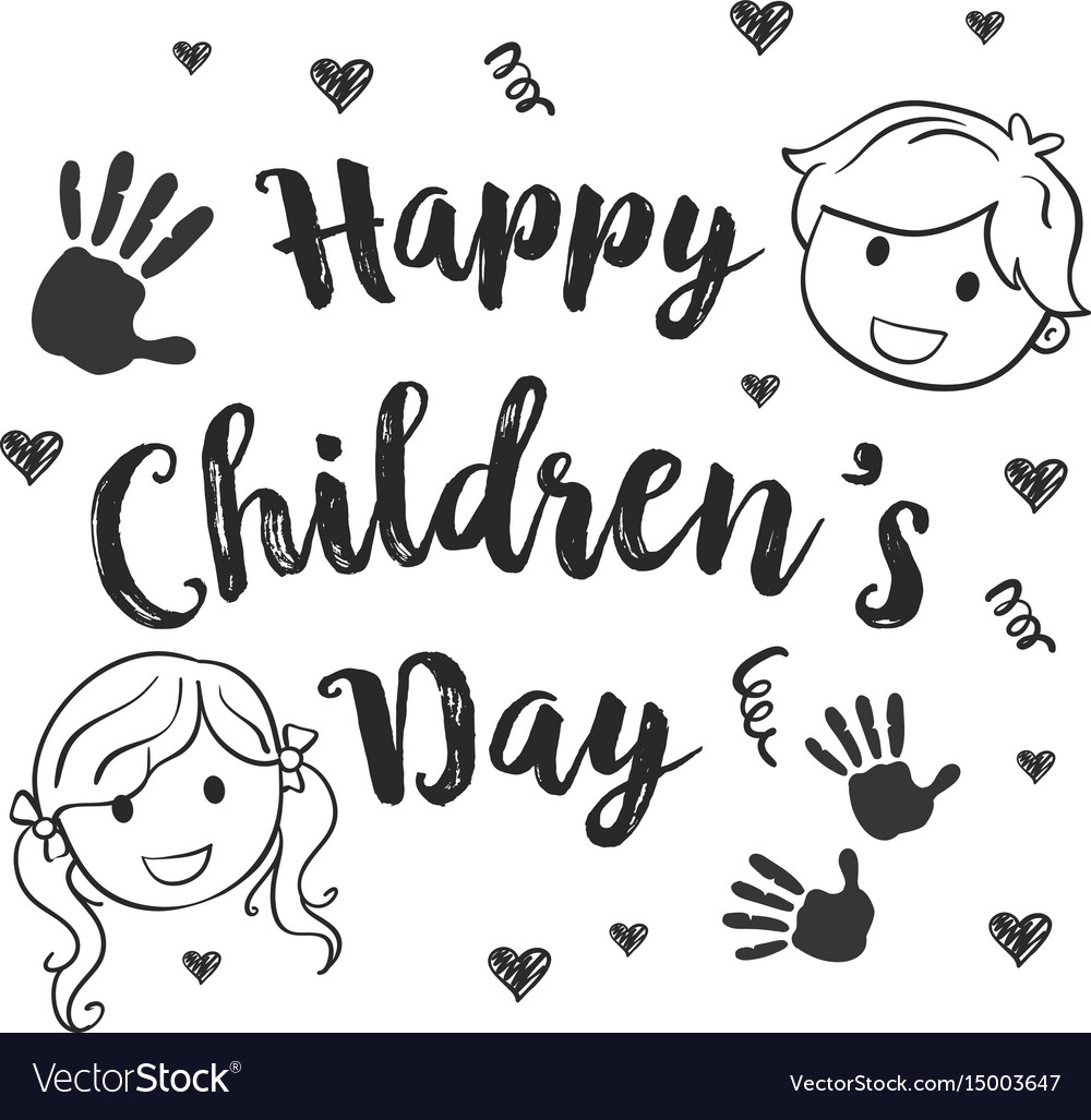 Children s clipart collection full download clip black and white library Collection children day hand draw clip black and white library