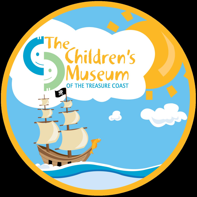 Children s museum clipart banner black and white stock Children\'s Museum of the Treasure Coast banner black and white stock