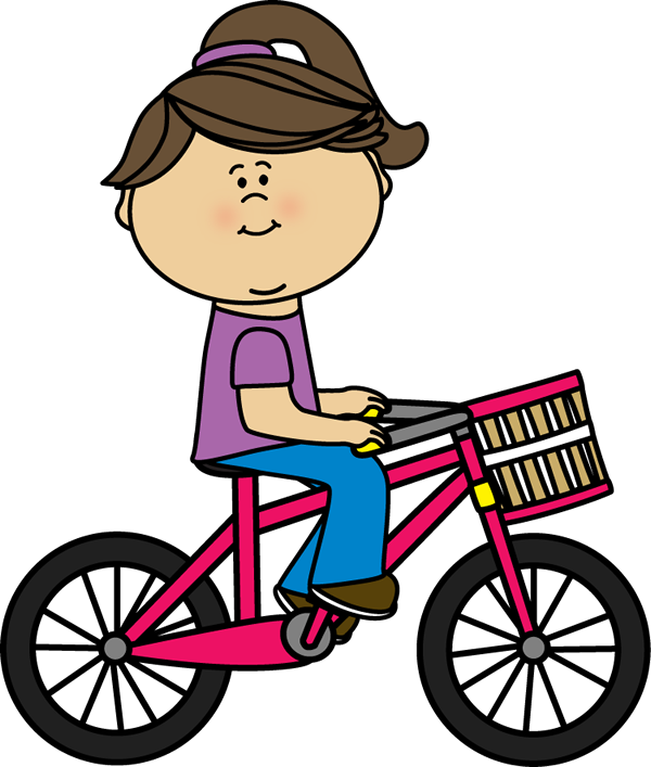 Children sitting criss cross clipart banner free Girl riding a bicycle with a basket | Transportation Clip Art ... banner free