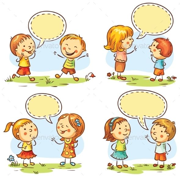 Children speaking clipart jpg royalty free library Happy Kids Talking and Showing Different Emotions | clipart ... jpg royalty free library