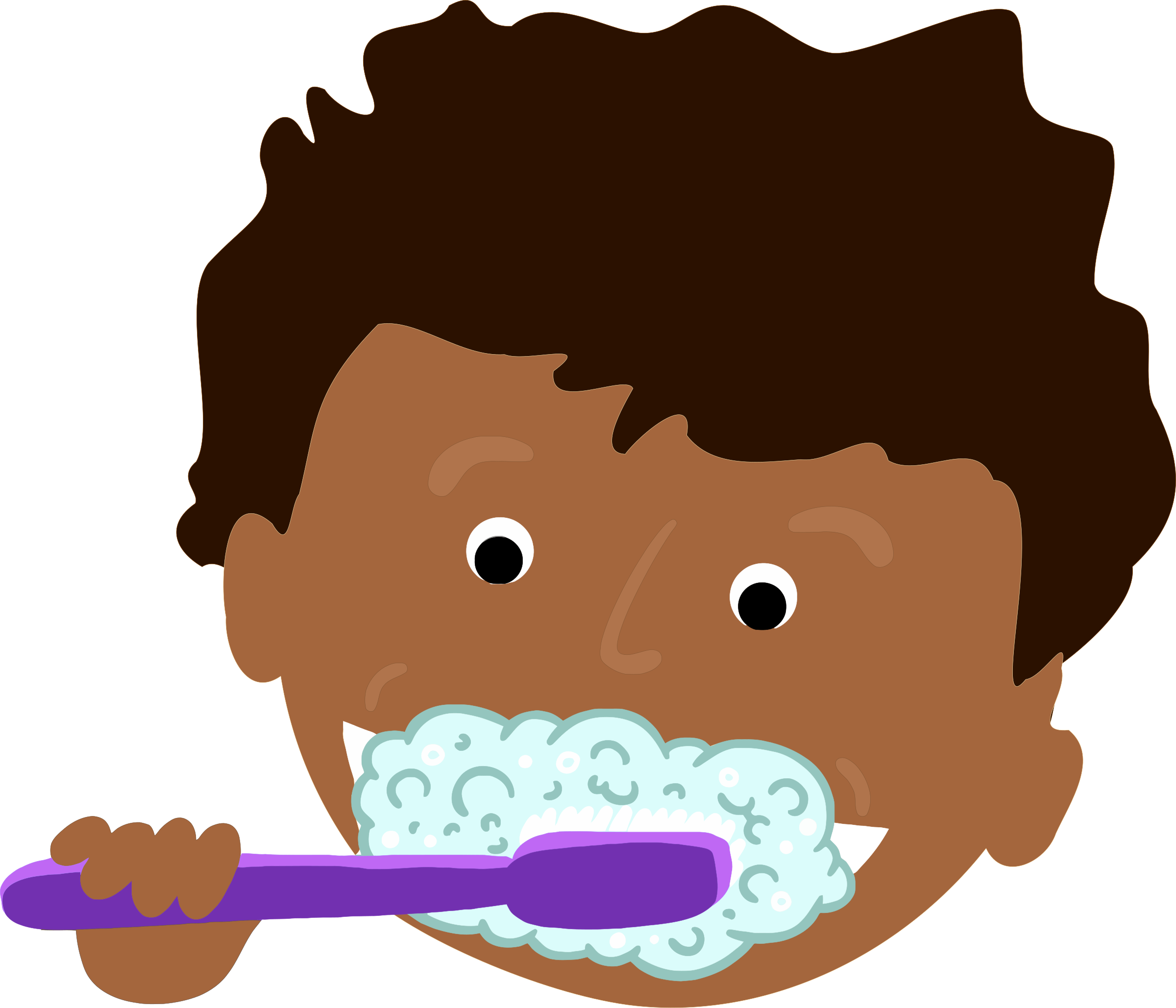 Children teeth clipart picture royalty free African Kid Brushing Teeth by j4p4n | Multicultural images for K-16 ... picture royalty free