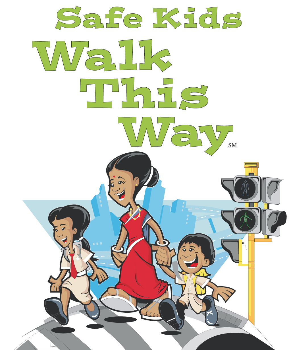 Children walking to school clipart png black and white library Safe Kids Walk This Way – Safe Kids Foundation png black and white library