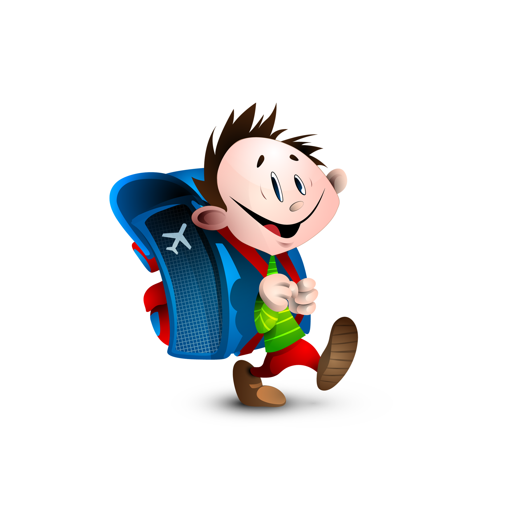 Children walking to school clipart svg royalty free stock Animation Child School Clip art - Cartoon boy walking to school ... svg royalty free stock