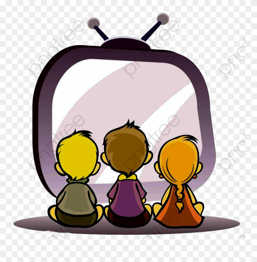 Children watching tv clipart banner royalty free Watching Tv Child - Kids Watching Tv Clipart - Png Download ... banner royalty free