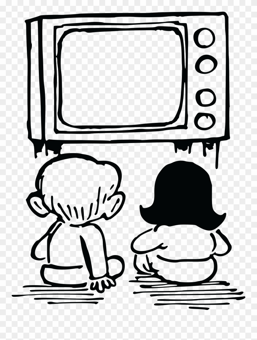 Watching television clipart clip art royalty free download Free Clipart Of Kids Watching Tv - Watching Tv Drawing Easy - Png ... clip art royalty free download